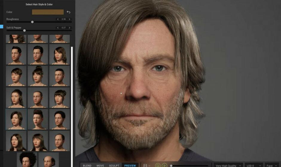 MetaHuman - L'editor personaggi di Epic Games