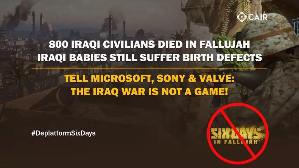 Six Days in Fallujah istigazione