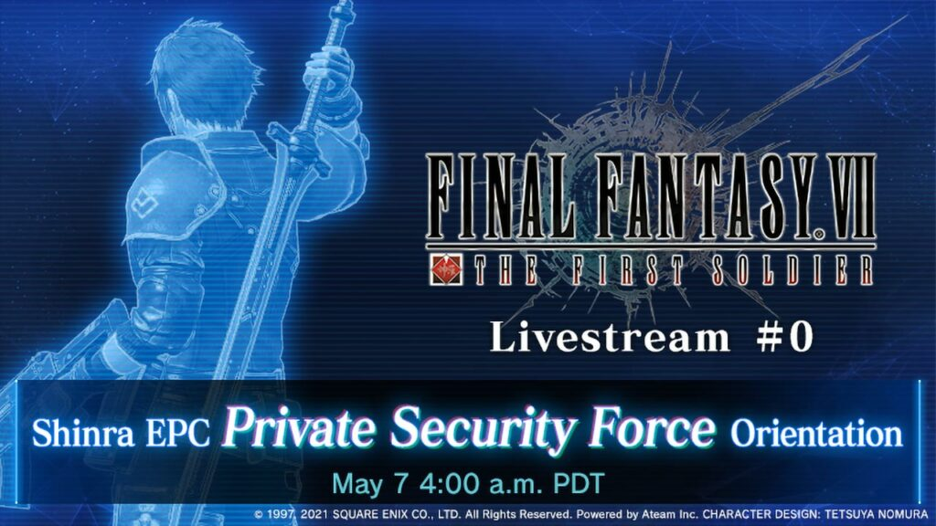 Final Fantasy VII: The First Soldier Live Stream