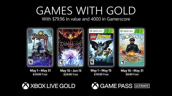 Xbox Live Gold maggio 2021: i titoli
