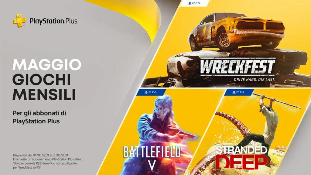 PlayStation Plus Maggio 2021