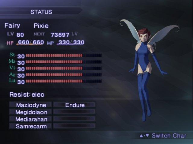 Shin Megami Tensei III Nocturne Super Pixie