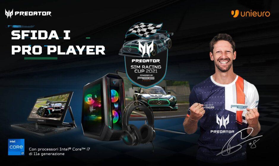 Predator Sim Racing Cup 2021, sfidate Grosjean