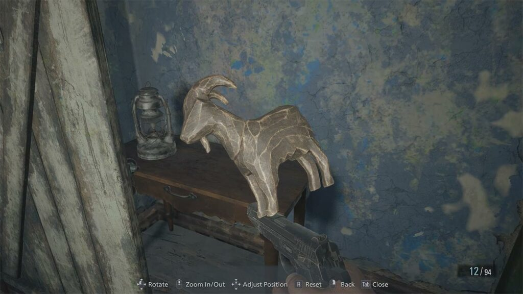 Resident Evil Village Tesoro Animale in Legno